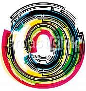 Colorful Grunge LETTER o