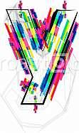 Font illustration, letter y