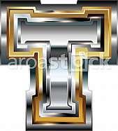 Fancy font Letter T
