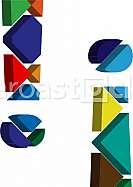 Colorful three-dimensional Symbol