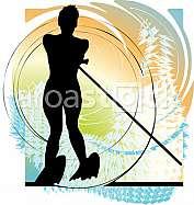 Water skiing woman