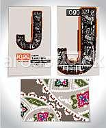 Ancient Business card design LETTER J