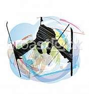 Skiing vector illustration
