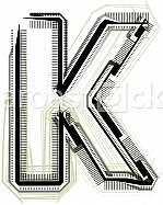Font Illustration Letter K