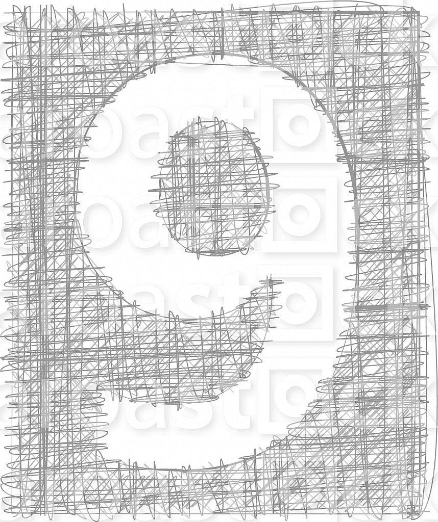 Freehand Typography Number 9