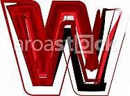 Artistic font letter W