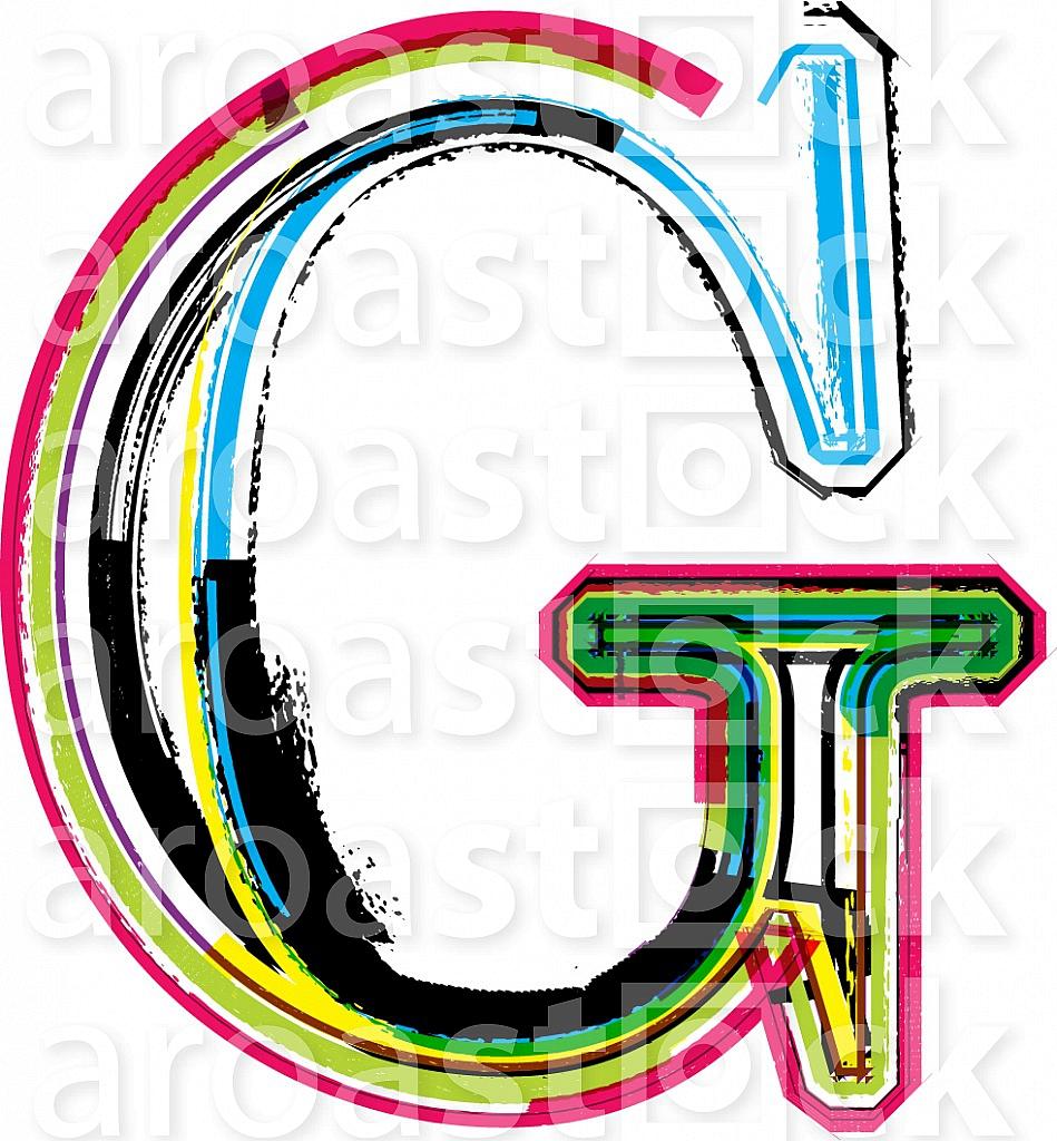 Font illustration, letter G