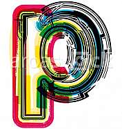 Colorful Grunge LETTER p