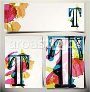 Artistic Greeting Card Font vector Illustration - Letter T