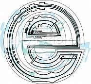 Font illustration letter e
