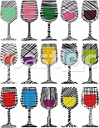 Wine glasses illustration
