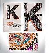 Ancient Business card design LETTER K