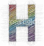 Hand draw font LETTER H