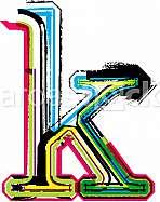 Font illustration, letter k
