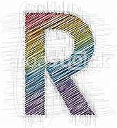 Hand draw font LETTER R