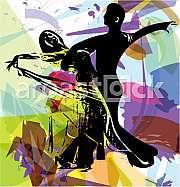 Abstract illustration of Latino Dancing couple