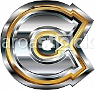 Fancy font Letter C