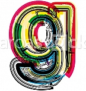 Colorful Grunge LETTER g