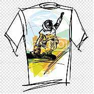 Sport tee vector illustration