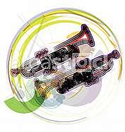 Music Instrument. Vector illustration