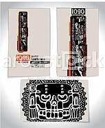 Ancient Business card design LETTER l