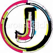 Colorful Grunge Font LETTER J