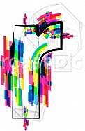 Font illustration, letter r