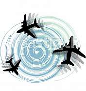 Abstract Airplane illustration