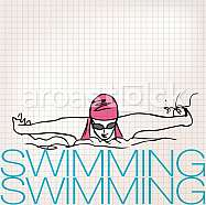 Illustration of Girl swimming in butterfly stroke style