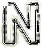 Font Illustration Letter N