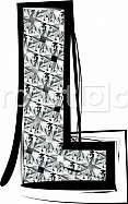 Diamond Font letter L