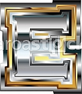 Fancy font Letter E