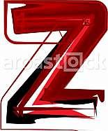 Artistic font letter Z