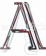 Font illustration letter A