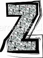 Diamond Font letter z