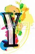 Artistic Font - Letter Y