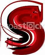 Artistic font letter s