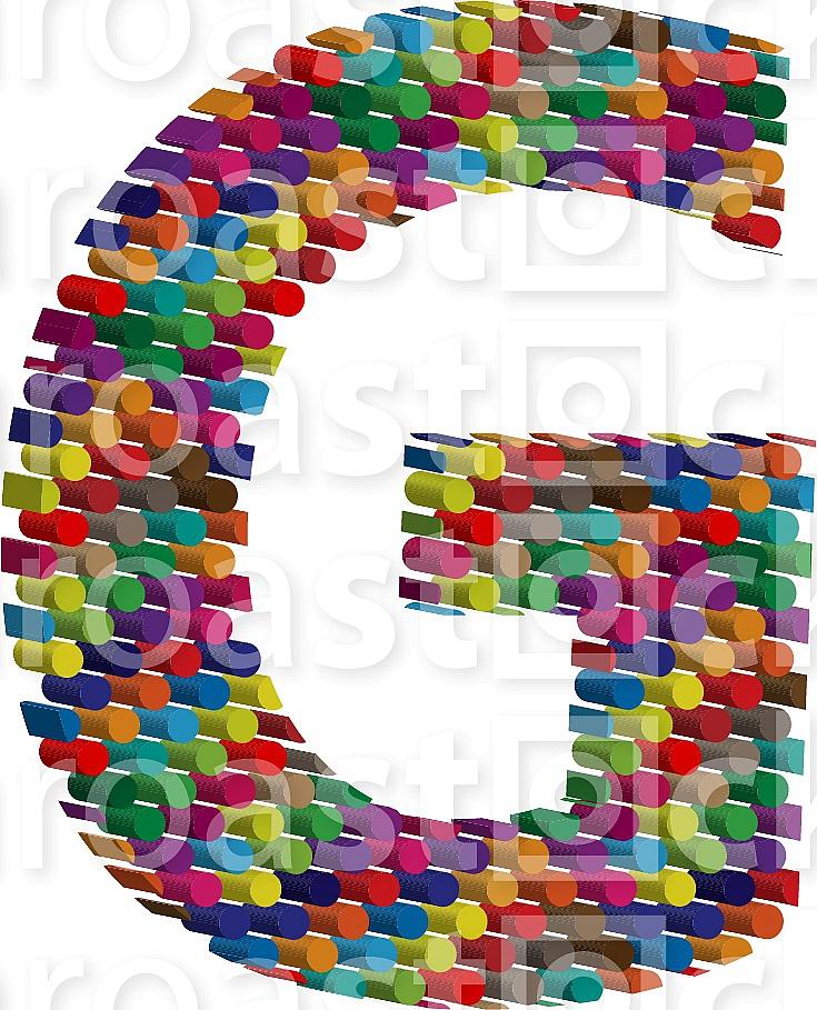 3d font letter G