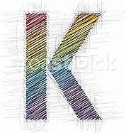 Hand draw font LETTER K