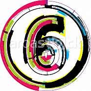 Colorful Grunge Font NUMBER 6