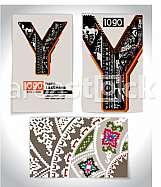 Ancient Business card design LETTER Y
