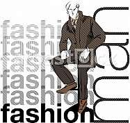 Sketch fashion & handsome business man