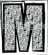 Diamond Font letter M