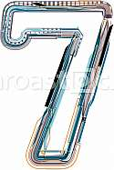 font illustration NUMBER 7