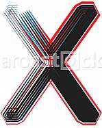 Font Illustration Letter X