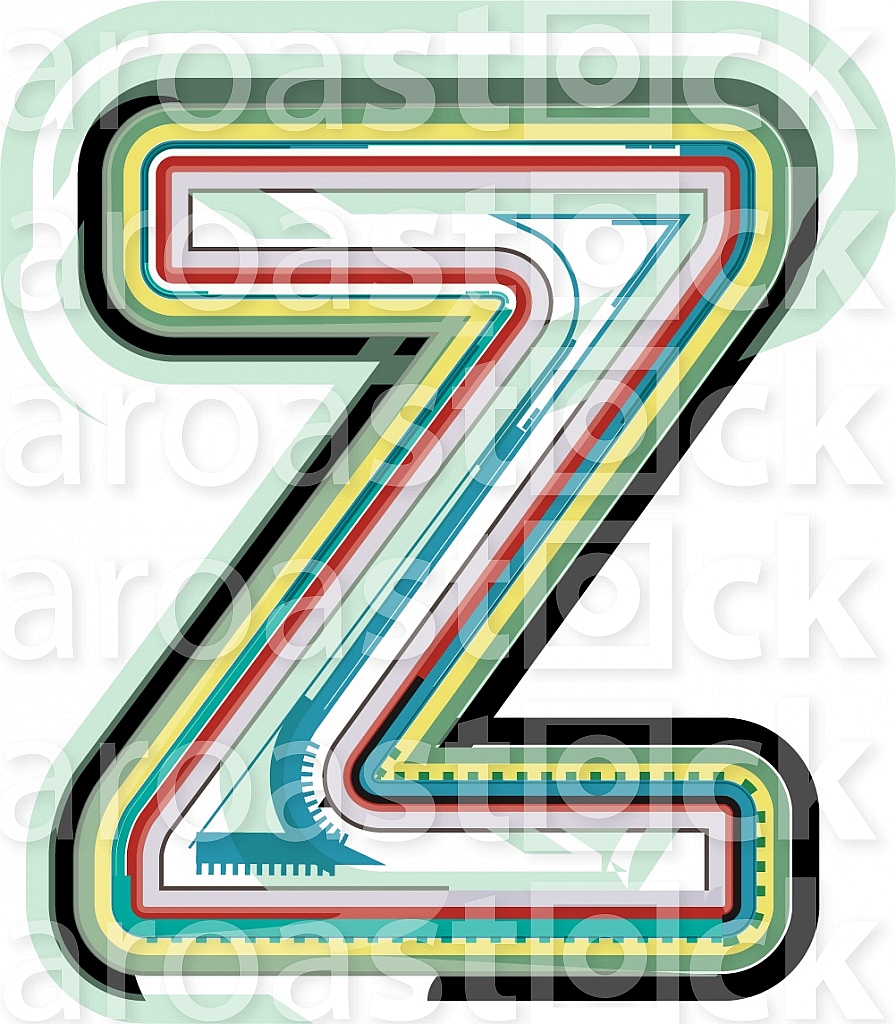 Abstract colorful Letter Z