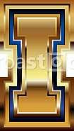 Golden Font Letter I
