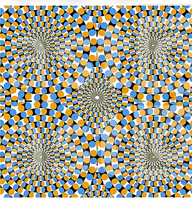 Optical effect of movement