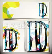 Artistic Greeting Card Font vector Illustration - Letter D