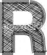 font Illustration Letter R